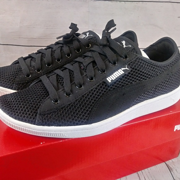765220f683 Puma Vikky Mesh Black Shoes Size 9 Women US